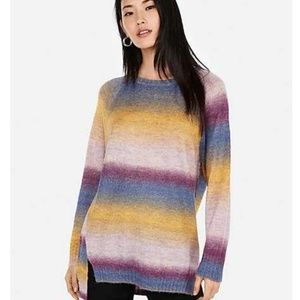 Express Ombre Oversized Tunic Sweater